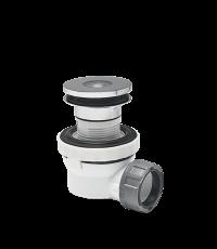 Ensemble bonde + siphon lavabo XS Pure gain de place, pour vasque avec trop-plein intégré - WIRQUIN