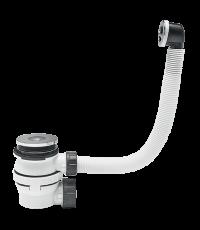 Ensemble bonde+siphon lavabo XS Pure ultra-compact gain de place, pour vasque à trop-plein extérieur - WIRQUIN