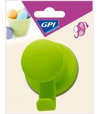 Crochet à ventouse vert repositionnable - GPI