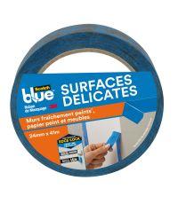 Adhésif de masquage Sctoch Blue surfaces délicates L.41 mxl.24mm bleu 3M