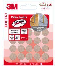 Patin feutre laine adhesif scotchgard 13mm beige - 3M