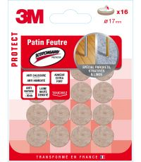 Patin feutre Scotchguard rond Ø17mm - 3M