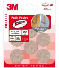 Patin feutre Scotchguard rond Ø25mm - 3M