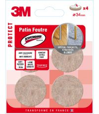 Patin feutre Scotchguard rond Ø34mm - 3M