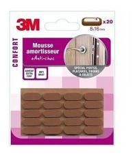 Mousse amortisseur adhésif 8x16mm marron - 3M