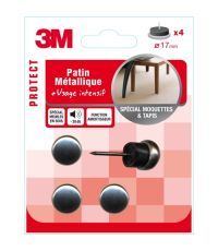 Patin métallique Ø17mm - 3M
