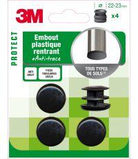 Embout plastique rond Ø22-23mm - 3M
