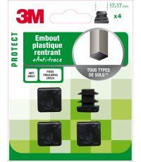 Embout plastique carré 17x17mm - 3M