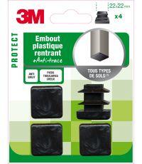 Embout plastique carré 22x22mm - 3M