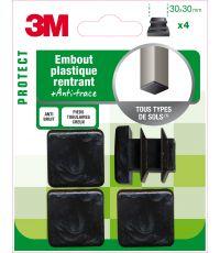 Embout plastique carré 30x30mm - 3M