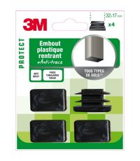 Embout plastique rectangle 32x17mm - 3M