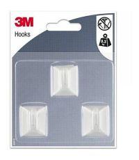 Crochet adhésif rectangle blanc petit modèle - 3M