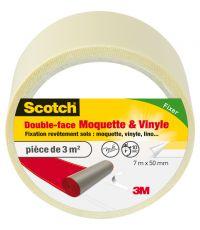 Adhésif moquette double face moquette et vinyle 7mx50mm - SCOTCH