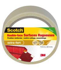 Adhésif moquette double face surfaces rugueuses 7,5 m x 32 mm - SCOTCH
