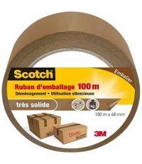 Ruban emballage 100m x 48mm marron SCOTCH