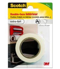 Adhésif moquette double face intérieur 1,5mx19mm - SCOTCH