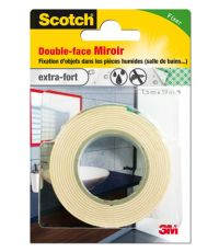 Adhésif moquette double face miroirs 1,5mx19mm - SCOTCH
