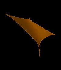 Voile d'ombrage rectangulaire 4 x 3 m sable