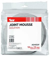 Joint mousse isolation 10m x 12mm blanc - 1ER