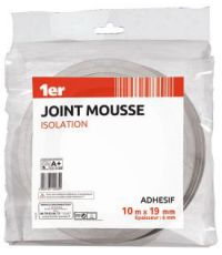 Joint mousse isolation 10m x 19mm blanc - 1ER
