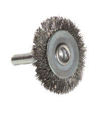 Brosse circulaire fil acier ondulé décapage du métal Ep: 0.35 - TIVOLY