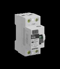 Interrupteur différentiel 63 ampères type A gris - DEBFLEX