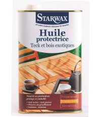 Huile protectrice teck et bois exotiques 1L - STARWAX