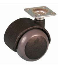 Roulette de meuble antidérapante à platine pivotante - Charge admissible 25kg.  Ø40mm - CIME