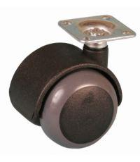Roulette de meuble antidérapante à platine pivotante - Charge admissible 25kg.  Ø50mm - CIME