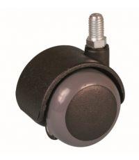Roulette de meuble antidérapante à tige filetée - Charge admissible 25kg.  Ø40mm - CIME