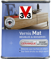 Vernis Meuble/Bois Mat CHENE FONCE 0,25L