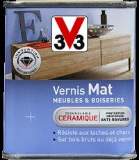 Vernis Meuble/Bois Mat BLANC PATINE 0,25L