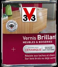 Vernis Meuble/Bois Brillant GRIS FUME 0,25L
