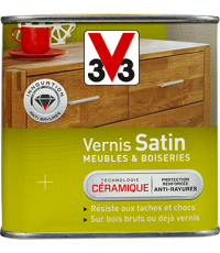 Vernis Meuble/Bois Satin BLANC PATINE 0,25L