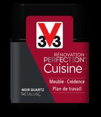 Peinture rénovation cuisine Perfection noir quartz satin testeur 75ml - V33