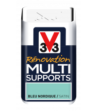 Testeur peinture Rénovation Multisupport bleu nordique satin 75 ml - V33