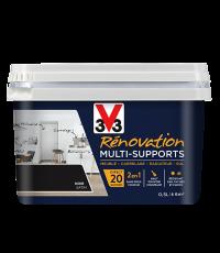 Peinture Rénovation Multisupport noir satin 0,5L - V33