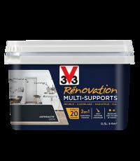Peinture Rénovation Multisupport anthracite satin 0,5L - V33