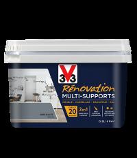 Peinture Rénovation Multisupport gris galet satin 0,5L - V33