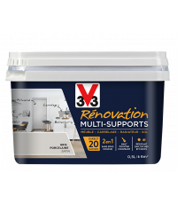 Peinture Rénovation Multisupport gris porcelaine satin 0,5L - V33