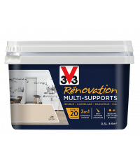 Peinture Rénovation Multisupport lin satin 0,5L - V33