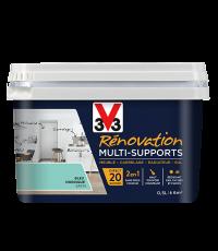 Peinture Rénovation Multisupport bleu nordique satin 0,5L - V33