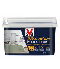 Peinture Rénovation Multisupport vert kaki satin 0,5L - V33