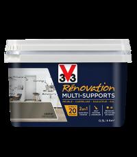 Peinture Rénovation Multisupport argent satin 0,5L - V33