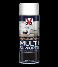 Peinture Rénovation Multisupport noir satin aérosol 400 ml - V33