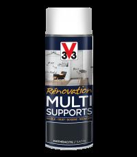 Peinture Rénovation Multisupport anthracite satin aérosol 400 ml - V33