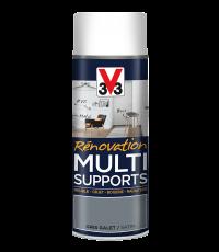 Peinture Rénovation Multisupport gris galet satin aérosol 400ml - V33