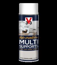 Peinture Rénovation Multisupport gris satin aérosol 400ml - V33