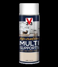 Peinture Rénovation Multisupport lin satin aérosol 400ml - V33