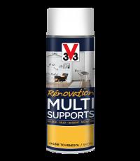 Peinture Rénovation Multisupport tournesol satin aérosol 400 ml - V33